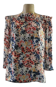 Devlin Painted Floral Off The Shoulder Blouse - Size Medium and Large - New with tags - The Fashion Foundation