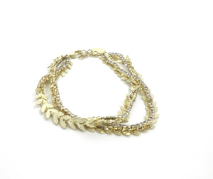 Stella & Ruby Wreath Collar Bracelet - The Fashion Foundation