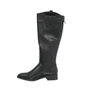 Amazon Essentials Black Faux Leather Boots - Size 5-12