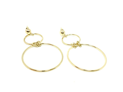 Stella & Ruby Double Hoop Earrings - Donated From Designer - The Fashion Foundation