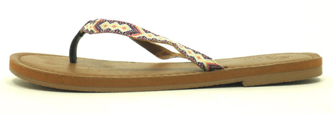 Faryl Robin Multi Colored Thong Sandal - Size 6 - The Fashion Foundation