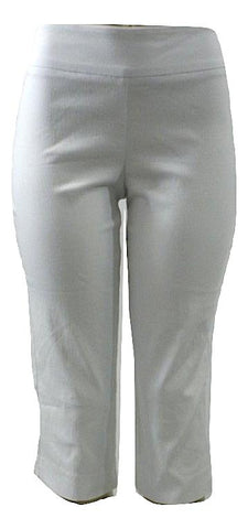Apt. 9 Stretchy White Capri Pants- Size Petite Small - The Fashion Foundation