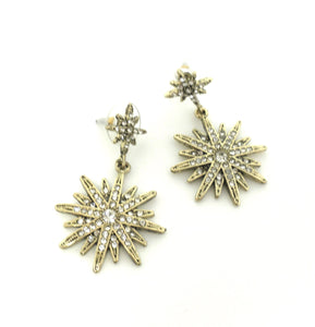 Stella & Ruby Gold and Silver Snowflake Earrings - Donated From The Designer - The Fashion Foundation