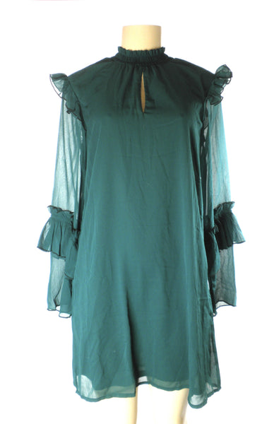 Bobeau Green Mock Neck Dress - Size Extra Small - The Fashion Foundation