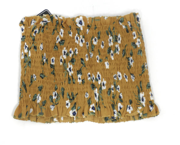 Zaful Mustard Yellow Floral Tube Top - Size Small - Donated From Designer - The Fashion Foundation