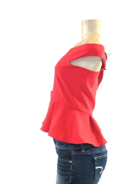 Parker Peplum Red Off The Shoulder Top - Size Small - New with tags