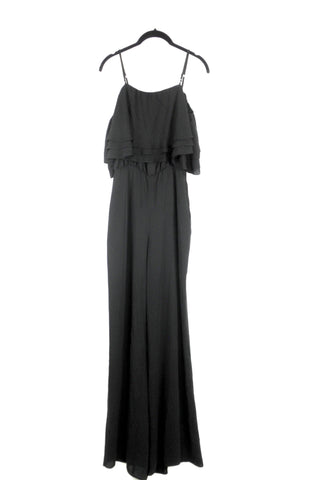 Amanda Uprichard Black Draped Jumpsuit - Small