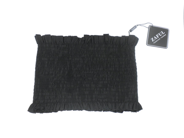 Zaful Black Smocked Tube Top - Size Small - Donated From Designer - The Fashion Foundation