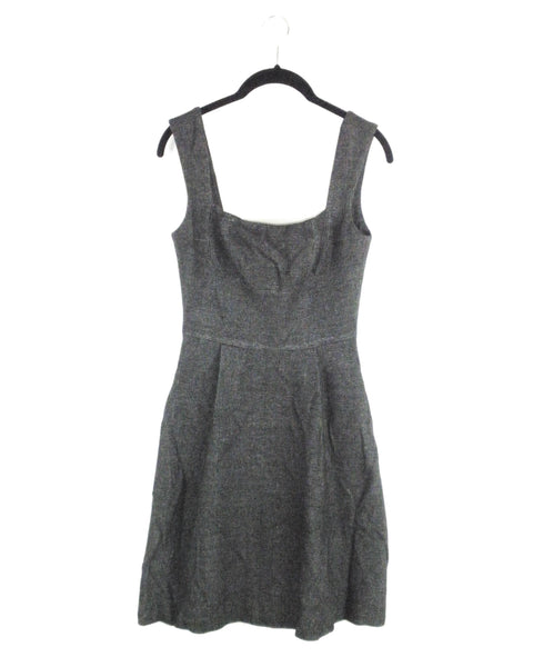 Amanda Uprichard Fit and Flare Heathered Grey Dress - Small - The Fashion Foundation - {{ discount designer}}