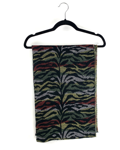 Plush Apparel Multi-Colored Animal Print Scarf