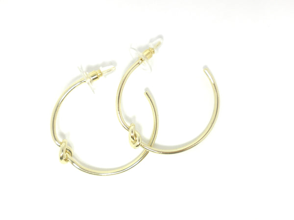 Stella & Ruby Knotted Hoop Earrings - Donated From Designer - The Fashion Foundation