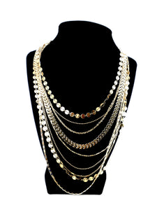 Multi-Chain Gold Necklace - The Fashion Foundation - {{ discount designer}}