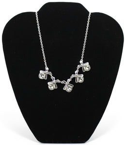 XO Rhinestone Necklace - Donated From The Designer