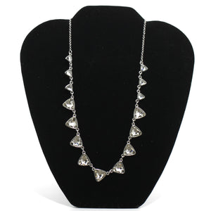 Silver Chain Rhinestone Necklace - Donated From The Designer