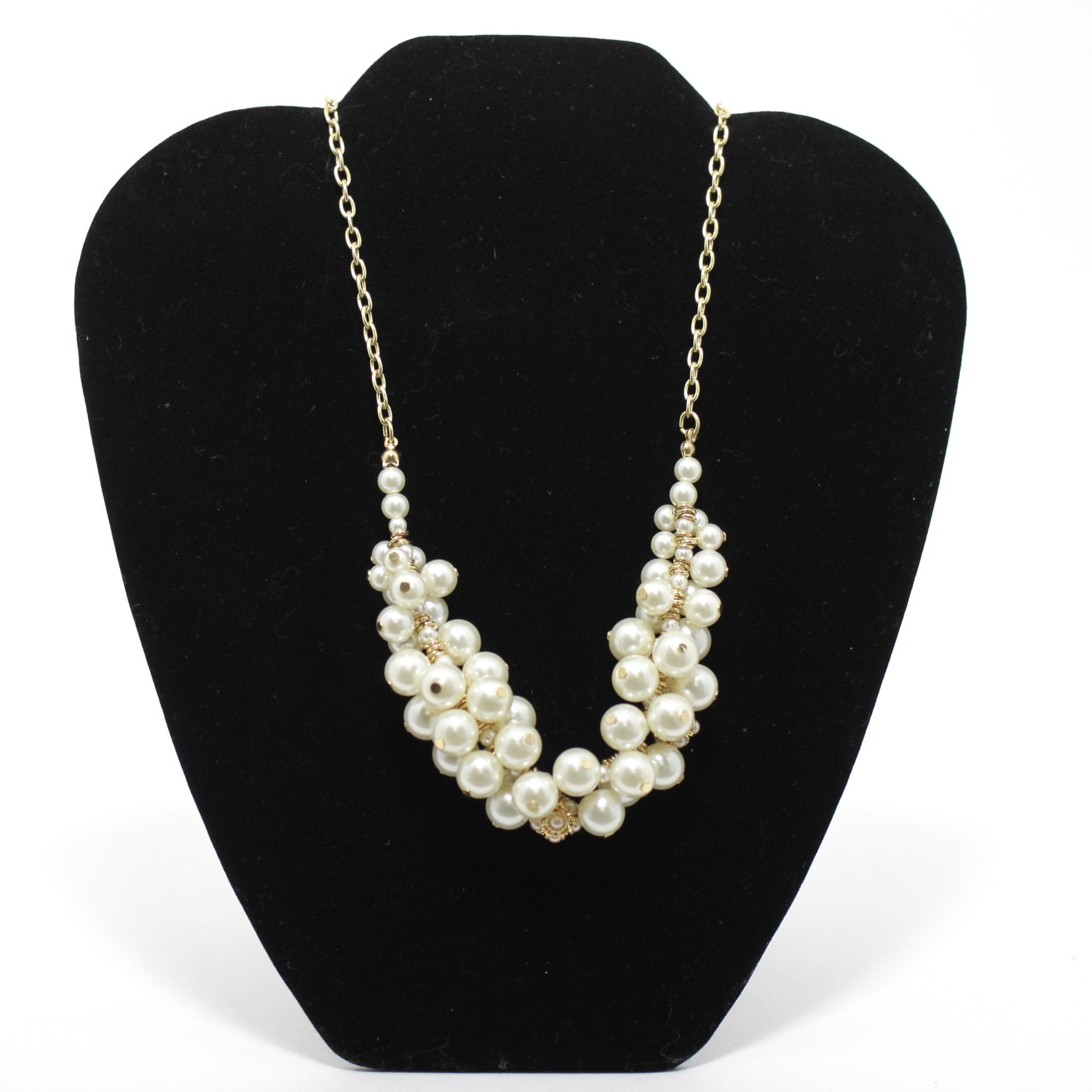 White Pearl & Gold Necklace - Donated From The Designer