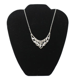 Rhinestone Necklace With Matching Earrings - Donated From The Designer