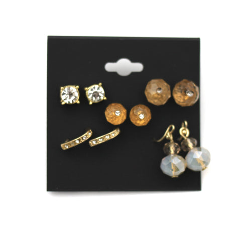 Five Set Gold Earrings - Donated From The Designer