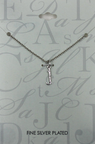 """J"" Silver Necklace - The Fashion Foundation"