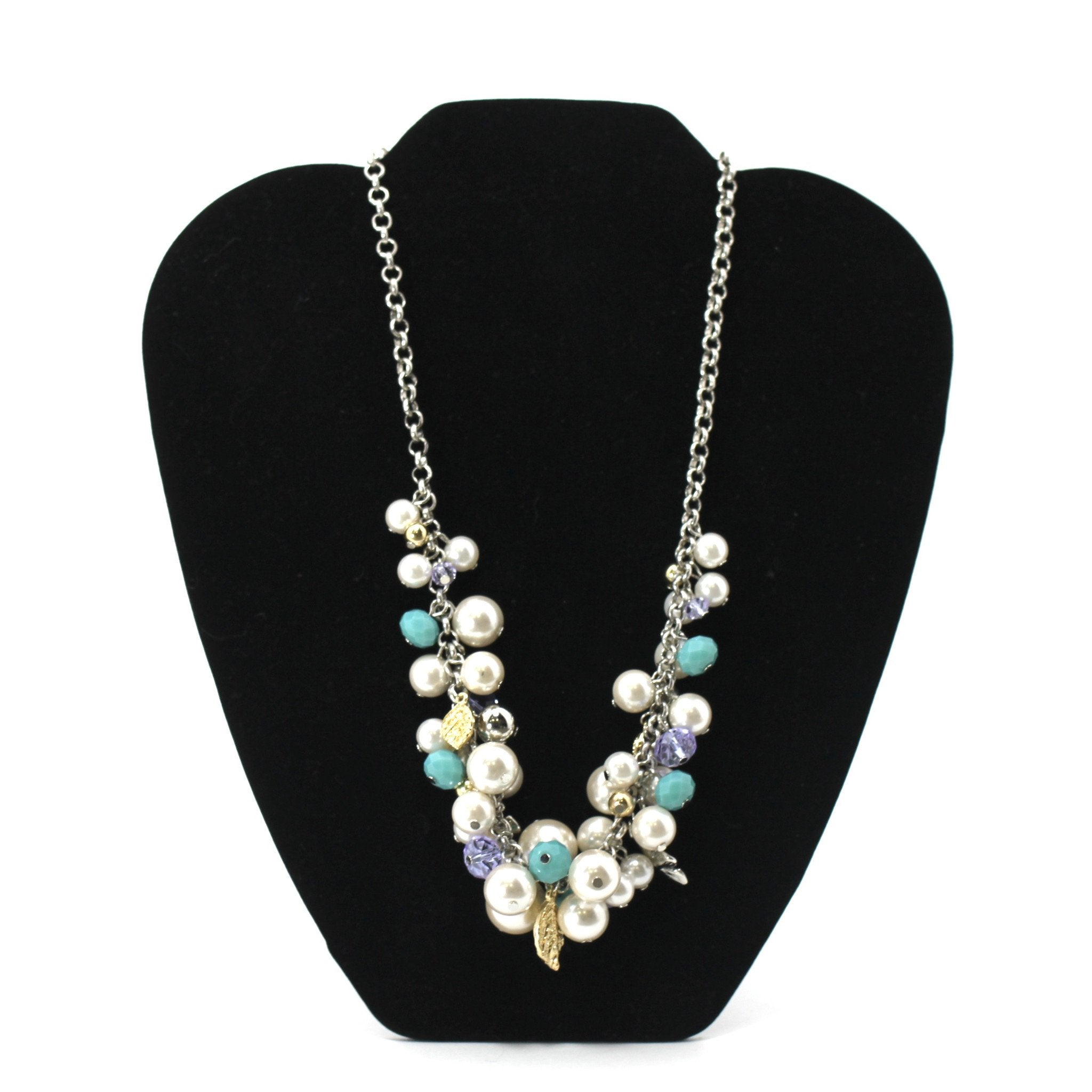 Beaded And Pearl Flower Necklace - Donated From The Designer