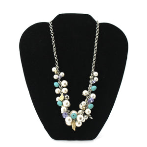 Beaded And Pearl Flower Necklace - The Fashion Foundation