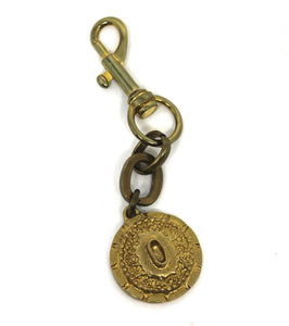 Lulu Frost Gold Number 0 Keychain - New Donated From The Designer