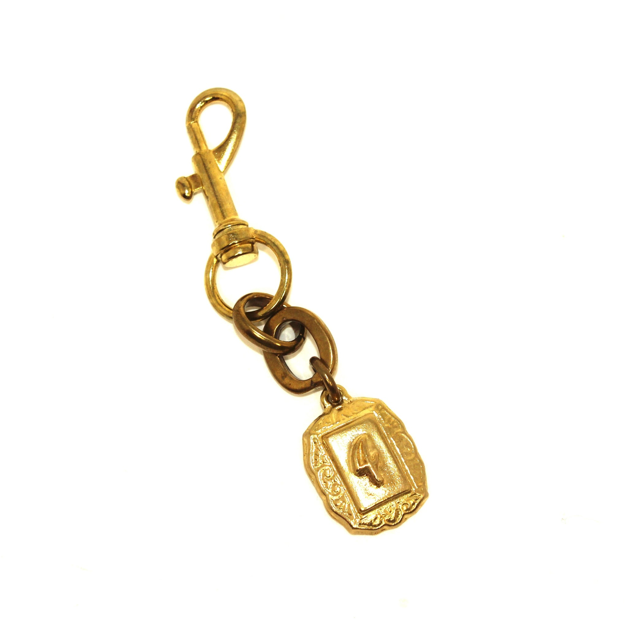Lulu Frost Gold Number 4 Keychain - New Donated From The Designer