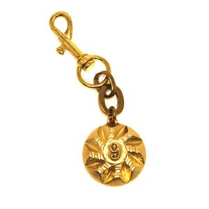 Lulu Frost Gold Number 9 Keychain - New Donated From The Designer