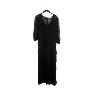 Amanda Uprichard Black Lace Gown - Small