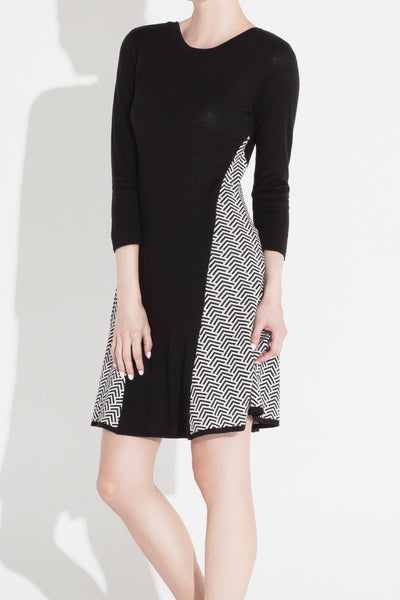 Tove & Libra Fit And Flared Black and White Dress- Size XS, L, XL - Donated From Designer