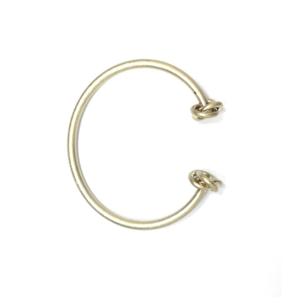 Gold Metal Cuff Bracelet With Knot - The Fashion Foundation - {{ discount designer}}
