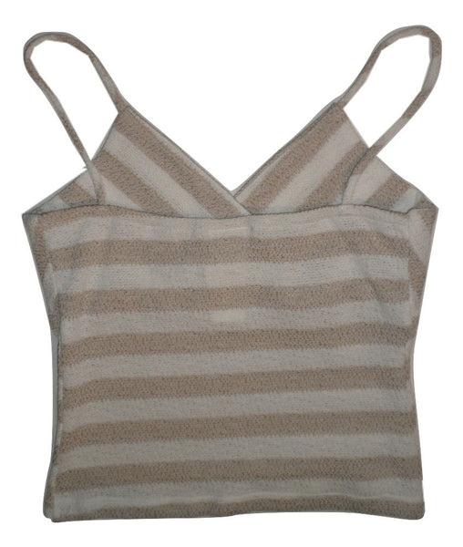 Finesse Tan and White Striped Crop Top - New With Tags - Size Small