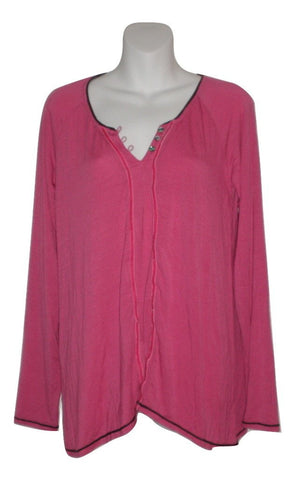 Bollydoll Magenta Long Sleeve Pajama Top - Size Small - Donated From The Designer