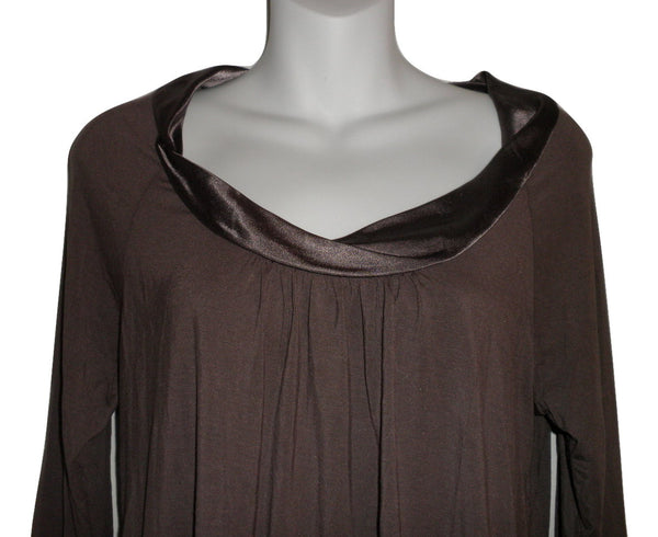 Carole Hochman Dark Gray Long Sleeve Pajama Top - Size Small - Donated From The Designer