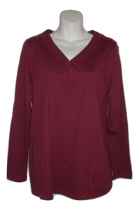 Carole Hochman Maroon Long Sleeve Pajama Top - Size Small - Donated From The Designer