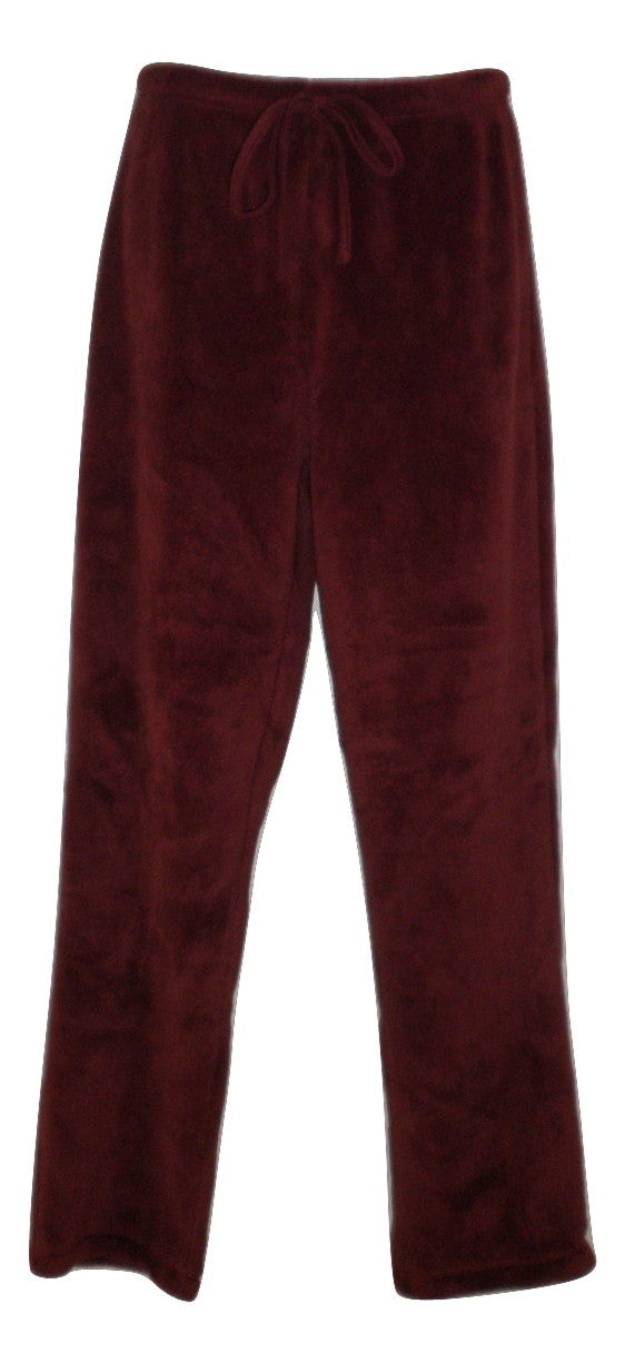 Unknown Maroon Fleece Pajama Pants - Size Small - Donated From The Designer