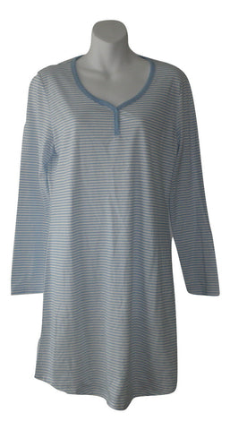 Jockey Long Sleeve Striped Nightgown - Size Small - Donated From The Designer
