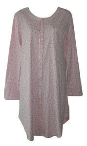 Aria Collection Pink Long Sleeve Nightgown - Size XSmall - The Fashion Foundation