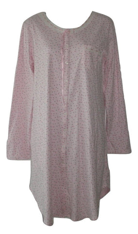 Aria Collection Pink Long Sleeve Nightgown - Size XSmall - Donated From The Designer