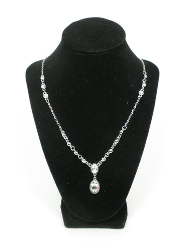Silver Oval Gem Necklace - Donated From The Designer