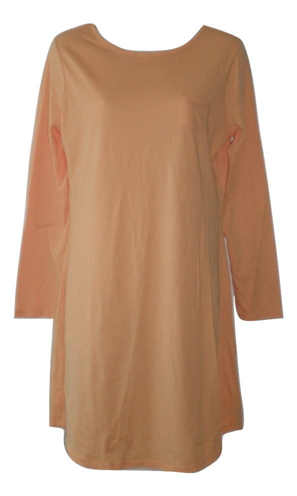 Jockey Peach Long Sleeve Nightgown - Size Small