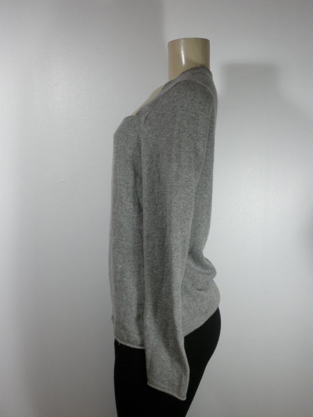 Lafayette 148 Gray Square Neckline Long Sleeve Top - Size Medium - Donated From The Designer