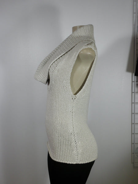 Lafayette 148 Sparkle Tan Sweater Tank - Small - Donated From The Designer - The Fashion Foundation