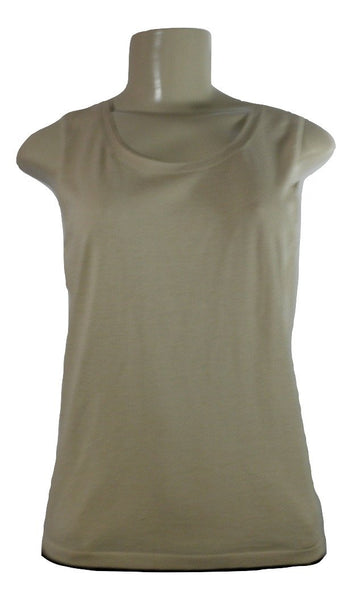 Lafayette 148 Tan Tank Sweater Top - Medium - Donated From The Designer