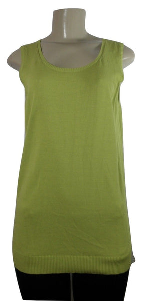 Lafayette 148 Lime Green Sleeveless Top - Medium - Donated From The Designer - The Fashion Foundation