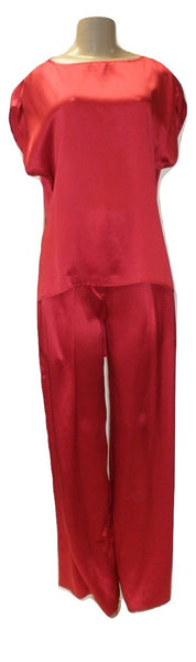 Laura Delman Red Silk High Low Top - Size Small - Donated from the Designer - The Fashion Foundation