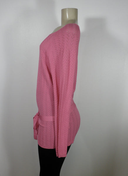 Lafayette 148 Pink Tie Waste Top - Size Medium - Donated From The Designer - The Fashion Foundation