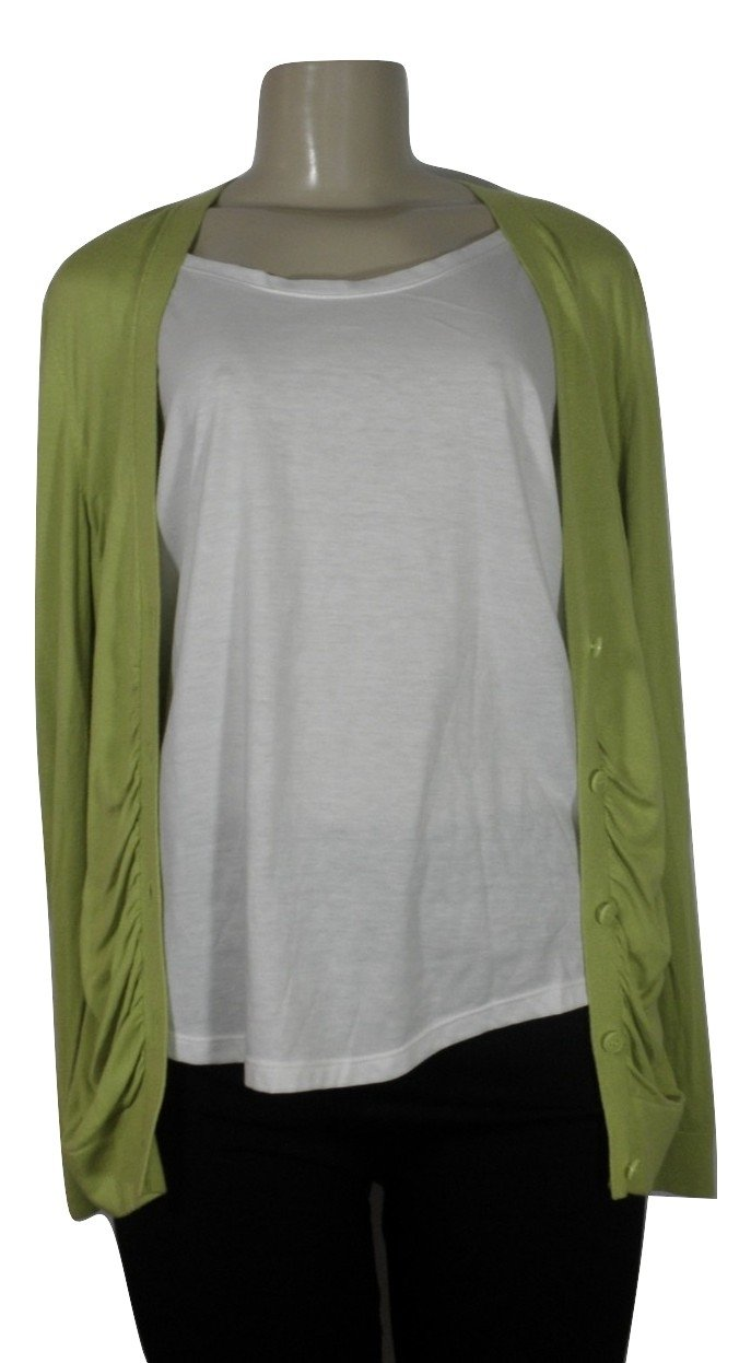 Lafayette 148 Lime Green Cardigan - Size Medium - Donated From The Designer