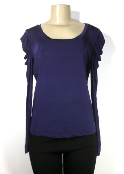 Lafayette 148 Purple Long Sleeve Top - Size Medium - Donated From The Designer - The Fashion Foundation