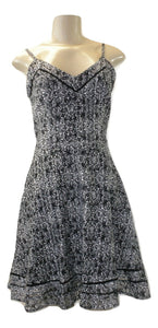 Aqua Black And White Pattern Dress - Size Small & Large - New With Tags - The Fashion Foundation