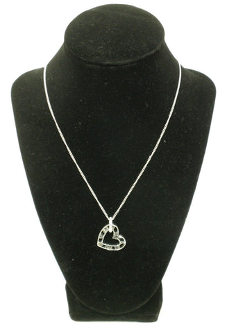 Silver Heart Shaped Necklace - Donated From The Designer